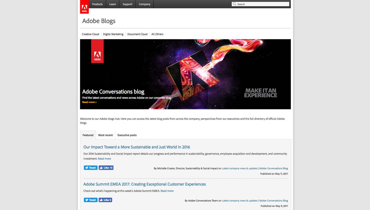 Adobe Blogs