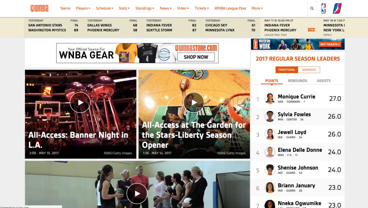 WNBA Wodpress Website